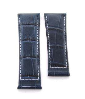 LEATHER STRAP ITALIAN FOR ROLEX DAYTONA WATCH BLUE WS #5E