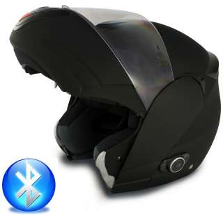 VCAN V210 Bluetooth Modular Flip Up Motorcycle Helmet DOT Flat Black