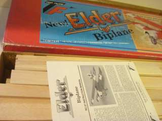 TOP FLITE ELDER BIPLANE RADIO CONTROL MODEL AIRPLANE KIT ** 65
