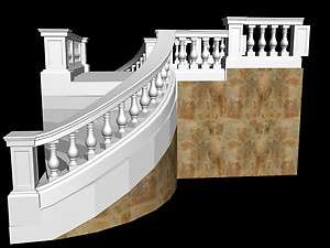 GREAT CARVED SANDSTONE OR MARBLE BALCONY RAILINGS SH1