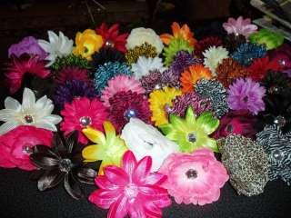 GIRLS gerber DAISY peony LILLY flower CRAFT hair WEDDING ZEBRA