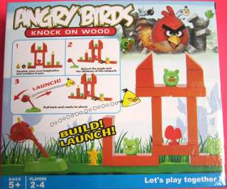 Cute Angry Birds Slingshot Game Figures brick Toy #389