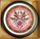 New in Box Genuine Harley Davidson 13 Pink Wings Sound Wall Clock