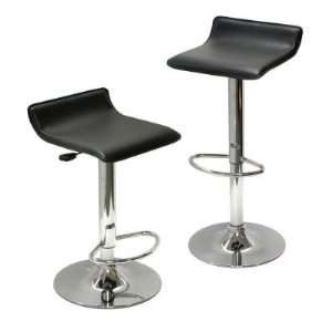 Contemporary Chrome Air Lift Adjustable Swivel Stools with