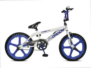 New Rooster Big Daddy BMX Bikes White   Blue Skyway Mag Wheels 2012