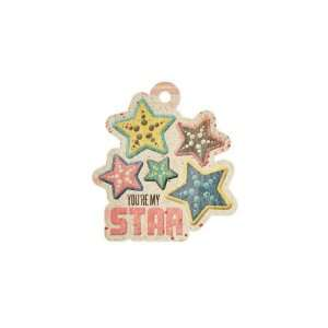Down The Boardwalk Star Embossed Tag (We R Memory Keepers