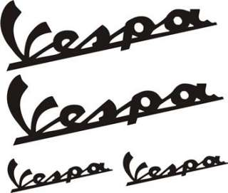 4X VESPA LOGO DECAL STICKER MOD SCOOTER