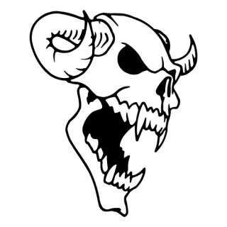Kit 2 adesivi tuning TESCHIO 07 skull halloween sticker