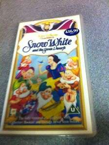 Walt Disney 1939 Classic SNOW WHITE AND THE SEVEN DWARFS rare VHS  7