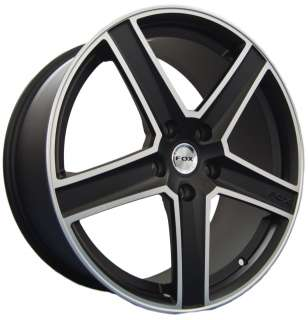 r6 alloy wheels finished in matt black with polished edge