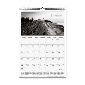 Visual Organizer Dayminder Black and White Monthly Wall