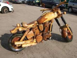 HARLEY DAVIDSON FULL SIZE WOODEN MOTORBIKE