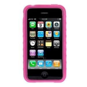 Premium Hot Pink Rubber Silicone Skin Cover Case Cell Phone Protector
