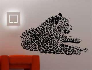 HUGE LEOPARD wall art sticker vinyl ANIMAL BIG CAT