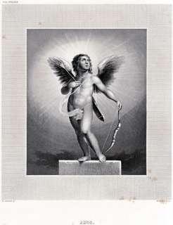 CUPIDO, Dio dellAmore, con Arco e Freccia.ACCIAIO.PASSEPARTOUT