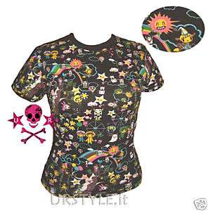 MAGLIETTA EMO MANGA STAR CARTOON ANIME KAWAII T SHIRT S