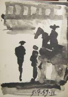 Pablo Picasso Toros y Toreros 5.7.59 VII