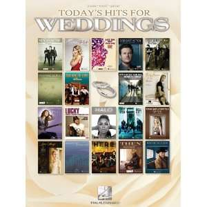 : Todays Hits for Weddings (9781458416438): Hal Leonard Corp.: Books