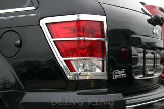 2005 2010 Jeep Grand Cherokee Chrome TAIL LIGHT BEZELS