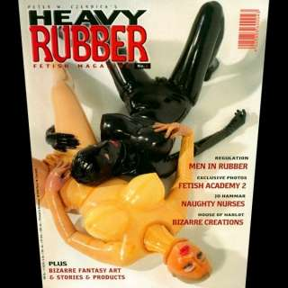 HEAVY RUBBER MAGZINE #4 BIZARRE FANTASY NURSE YELLOW LATEX HOODED DOLL