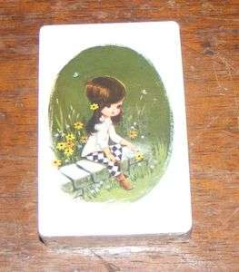Vintage TRUMP Little Girl Flowers Playing Cards SEALED