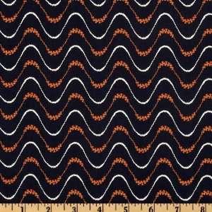 44 Wide Keystone Ripple Stripe Black Fabric By The Yard
