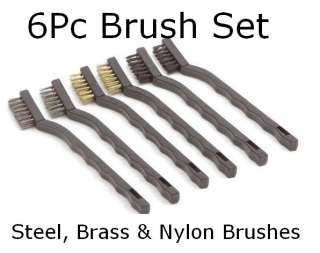 6PC ARCHAEOLOGY ARTIFACT & COIN CLEANING BRUSHES TOOLS