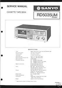 Sanyo Original Service Manual RD 5035 UM