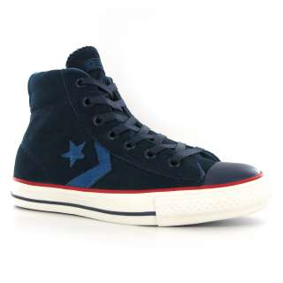 Converse Star Player Ev Mid Blue Suede Mens Trainers