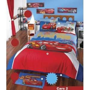 disney cars pixar blue comforter sheets bedding set full 8