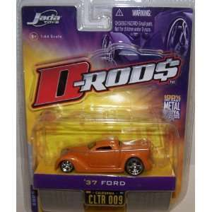 Jada Toys 1/64 Scale Diecast D rods 1937 Ford in Color Orange No#009