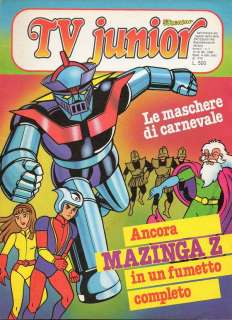 TV JUNIOR ANNO II n. 7   MAZINGA Z REMI