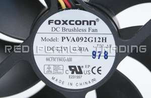 Dell Foxconn 12V .40A Cooling Case Brushless Fan PVA092G12H Y841G