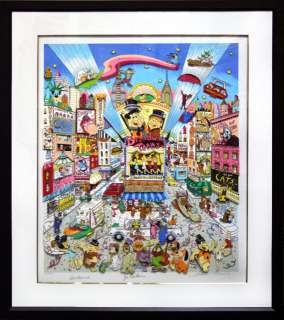CHARLES FAZZINO BROADWAY TOONS HAND SIGNED POP ART 3D MIXED MEDIA