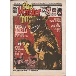 : The Monster Times   Volume 1 Number 12   June 1972: Joe Kane: Books