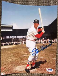 Stan Musial Signed 8x10 Photo Cardinals PSA/DNA auto