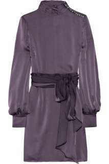 Azzaro Gary long sleeved silk satin dress   88% Off Now at THE OUTNET