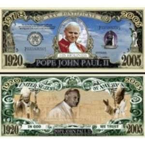 Pope John Paul II Commemorative Bill Case Pack 100 Toys
