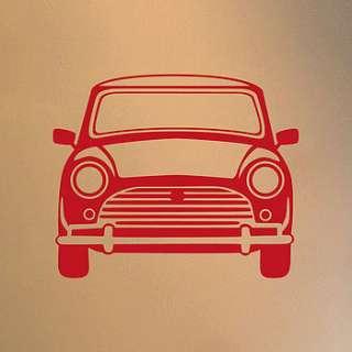 classic mini vinyl wall sticker front/side by oakdene designs