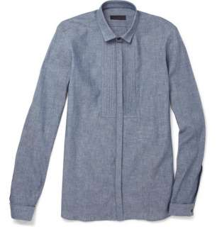 Burberry Prorsum Chambray Bib Front Dinner Shirt  MR PORTER