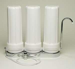 Titan Water Pro Triple Counter Top Water Filter Carbon/Alkaline/KDF