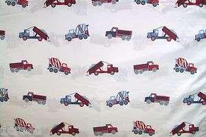 Childs Construction Dump Cement Trucks Vehicles Twin Size Flat Bed