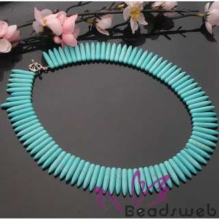 Stunning Tibet Silver Turquoise Pin Beads Necklace 18