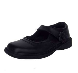 Klix 2044 1 Youth Girls Black Leather School Mary Jane Dress Shoes