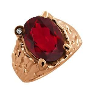 21 Ct Oval Ruby Red Mystic Quartz and Topaz Rose Gold Plated Silver