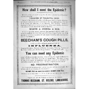 1890 Advertisement Thomas Beecham Helens Lancashire:  Home