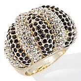 Joan Boyce Two Tone Chic Pavé Crystal Swirl Ring