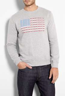 Grey 1987 American Flag Sweat by A.P.C
