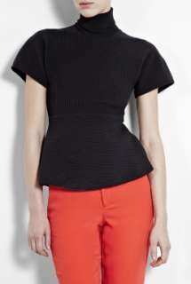 Acne  Black Dolores Polo Neck Couture T Shirt by Acne