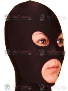 High Quality Black Open Eye And Mouth Lycra Spandex Hood Lycra Hood